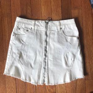 zip front skirt!